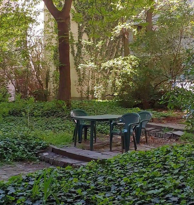 Beleszerettünk a Dohány utca 30B kis, belső kertjébe…