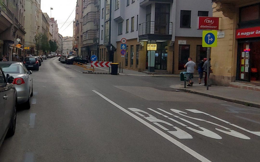A Wesselényi utcát talán még sosem láttuk ilyennek hétköznap délután 6:30-kor. 😊