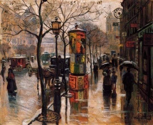 Őszi eső a körúton