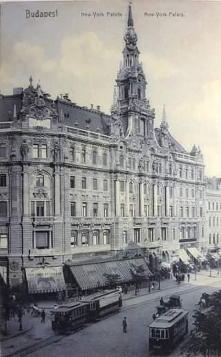 A New York-palota egy 1909-es (békebeli) képeslapon.